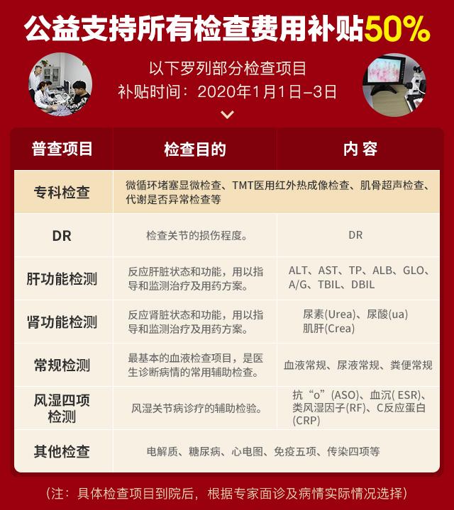 2021年元旦京豫名医领衔大型会诊及公益帮扶痛风\风湿骨病患者